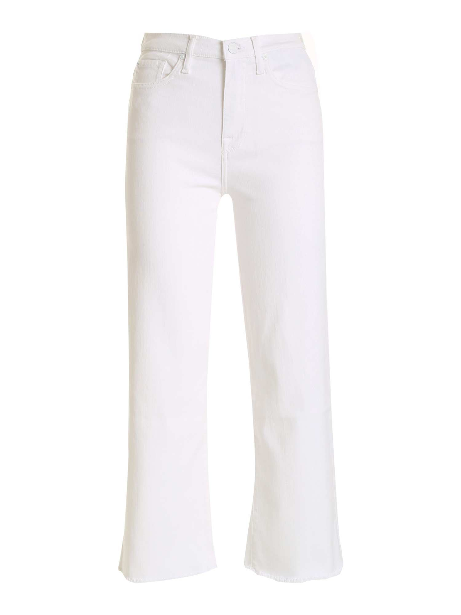 7 For All Mankind ALEXA CROP FIT JEANS IN WHITE
