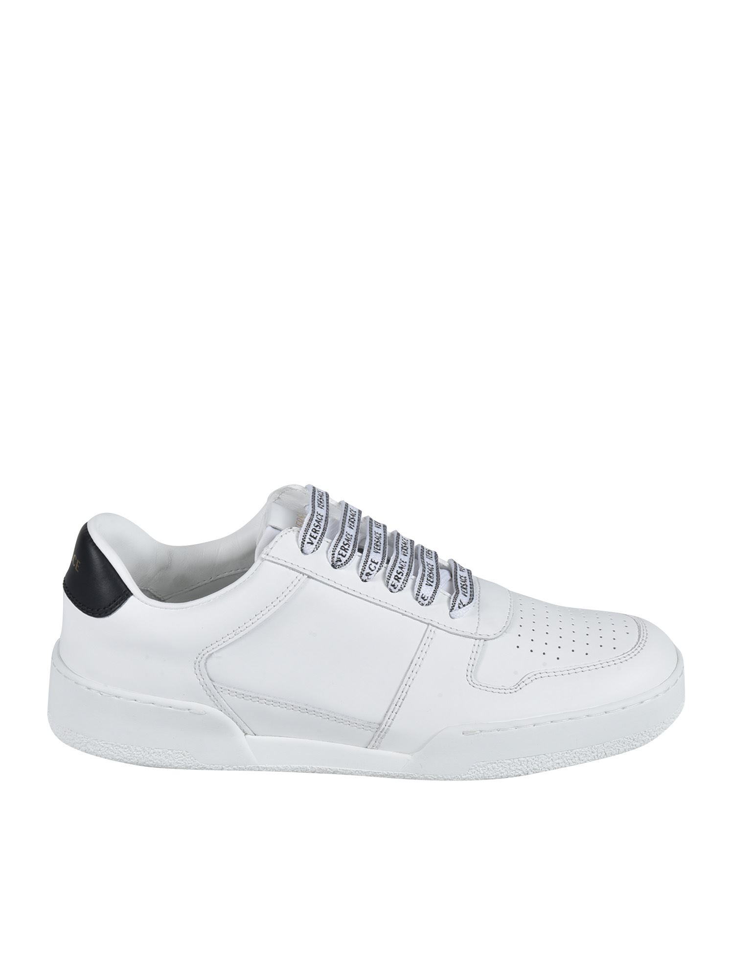 Versace ILUS SNEAKERS IN WHITE AND BLACK