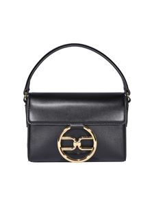 Elisabetta Franchi - Faux leather micro bag in black