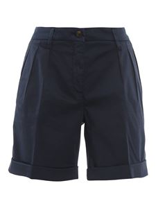 Fay - Cotton shorts in blue