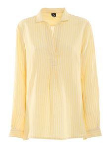 Fay - Striped linen blouse in yellow