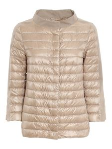Herno - Cape style puffer jacket in beige