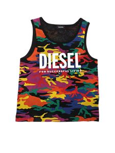 Diesel - T-shirt smanicata Cannyrbow multicolor