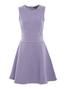 Elisabetta Franchi - Studded knitted dress in purple