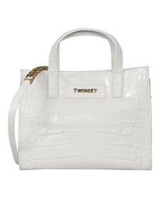 Twin-Set - Leather Twinset Bag in white