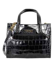 Twin-Set - Leather Twinset Bag in black