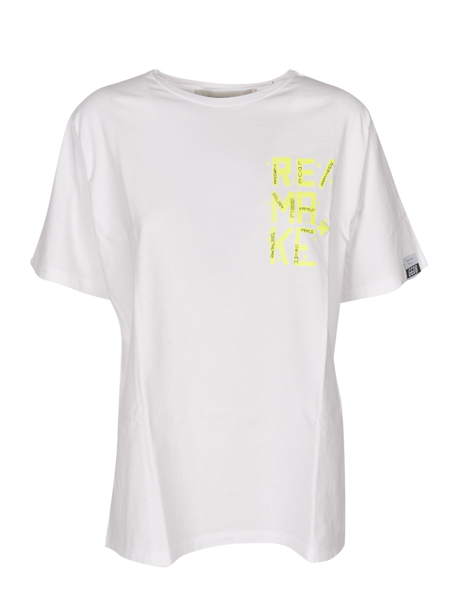 Golden Goose T-shirts AIRA T-SHIRT IN WHITE