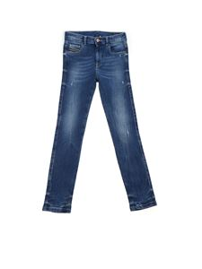 Diesel - Destroyed effect jeans in blue