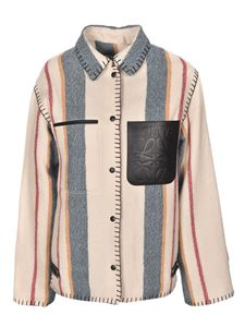 Loewe - Striped shirt jacket in beige