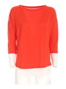 Majestic Filatures - Three-quarter sleeves T-shirt in red