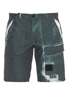 CP Company - Marble effect bermuda trousers in green