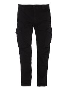 CP Company - Tech fabric cargo trousers in black