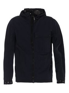 CP Company - Recycled fabric waterproof jacket in blue