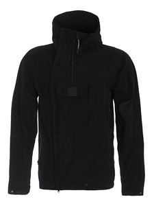 CP Company - Water repellent asymmetric jacket in black