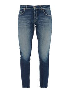 Dondup - Faded effect skinny jeans in blue