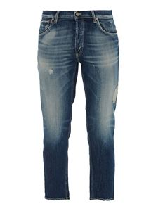 Dondup - George distressed effect  jeans in blue