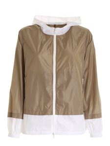 Fay - Hooded jacket in white and beige