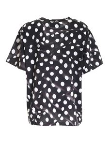 Moschino Boutique - Polka dot print T-shirt in black