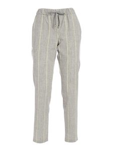 Lorena Antoniazzi - Striped pants in grey and yellow