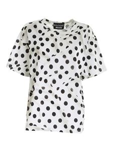 Moschino Boutique - Polka dot print T-shirt in white
