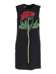 Moschino Boutique - Flower print dress in black