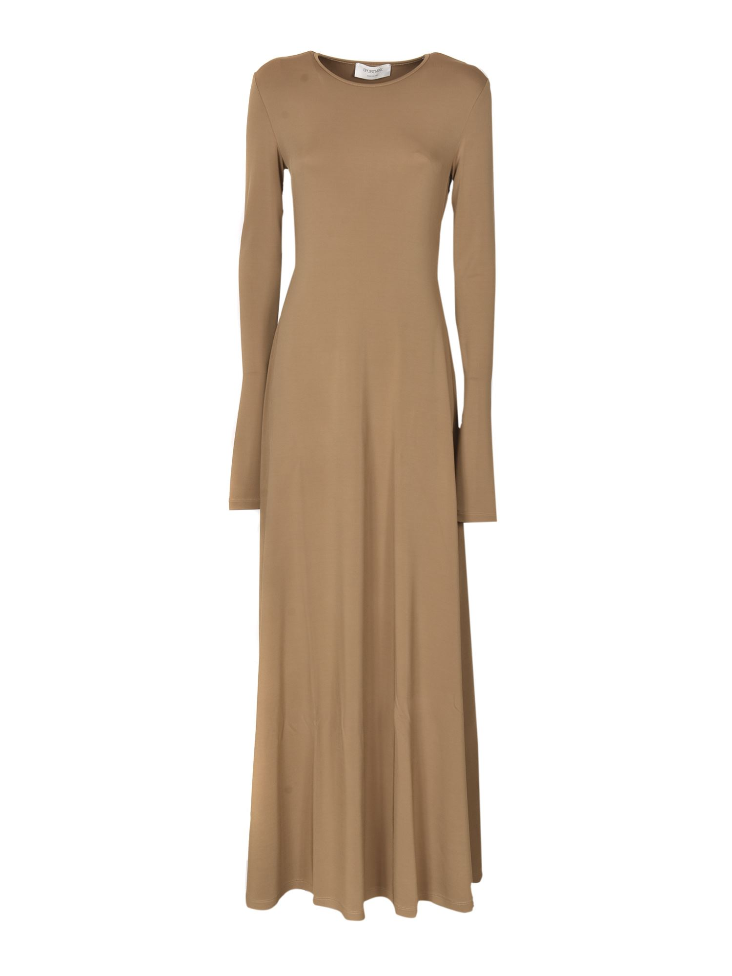 Sportmax REAR CUT-OUT JAMES DRESS IN CAMEL COLOR