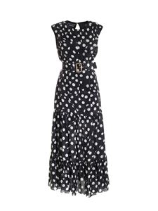 Moschino Boutique - Polka dot print long dress in black