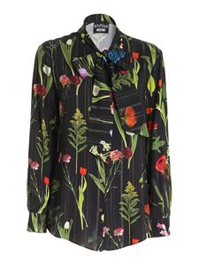 Moschino Boutique - Floral print shirt in black