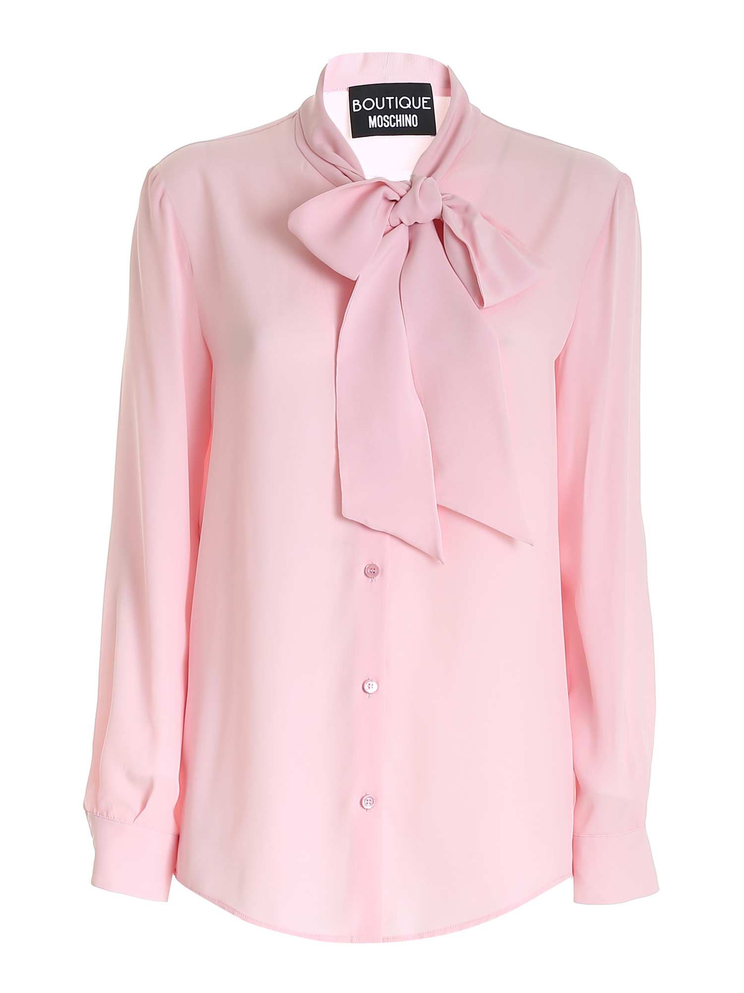 Moschino Boutique MOSCHINO BOUTIQUE BOW SHIRT IN PINK