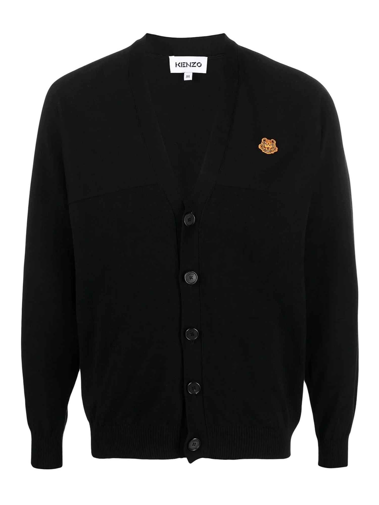Kenzo TIGER CARDIGAN IN BLACK
