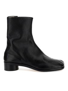 Maison Margiela - Tabi leather ankle boots in black