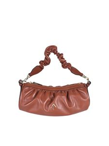 Manu Atelier - Ruched Cylinder Chain bag in Redbole