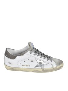 Golden Goose - Laminated star Superstar sneakers in white