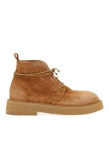 Marsèll - Micruccia suede ankle boots in camel color