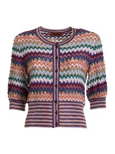 Missoni - Wool blend cropped cardigan in multicolor