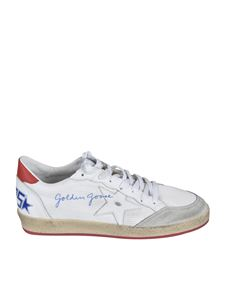 Golden Goose - Sneakers Ball Star in tessuto bianche