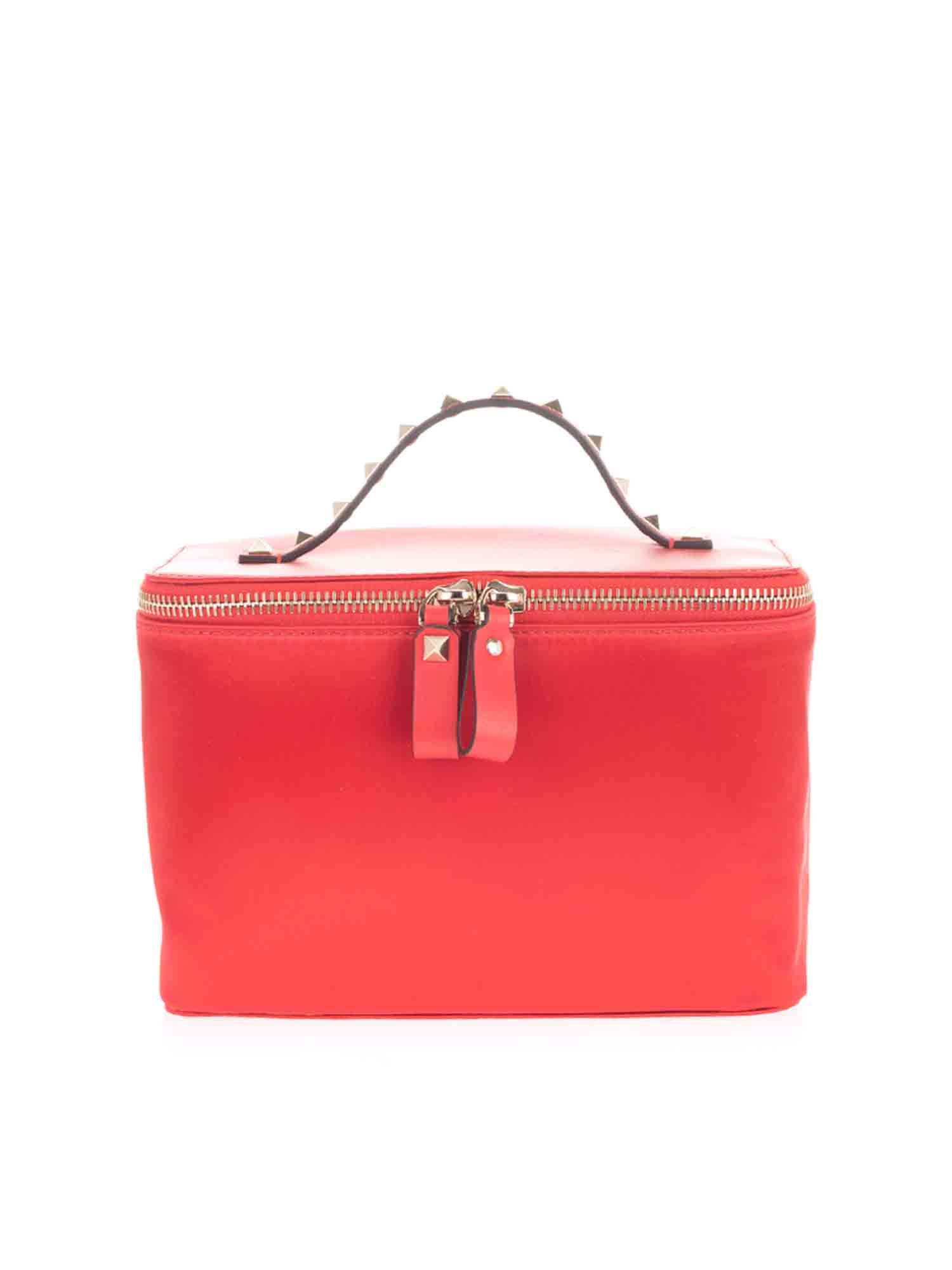 Valentino Accessories ROCKSTUD BEAUTY CASE IN RED