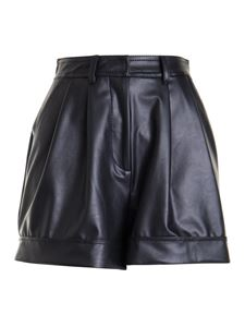 Ermanno Scervino - Faux leather shorts in black