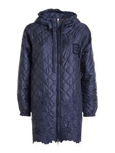 Ermanno Scervino - Diamond quilted jacket in blue