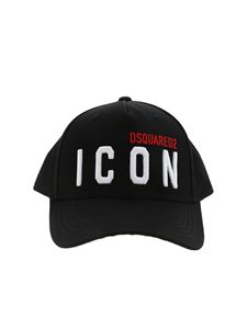Dsquared2 - Cappello Icon ricamato nero