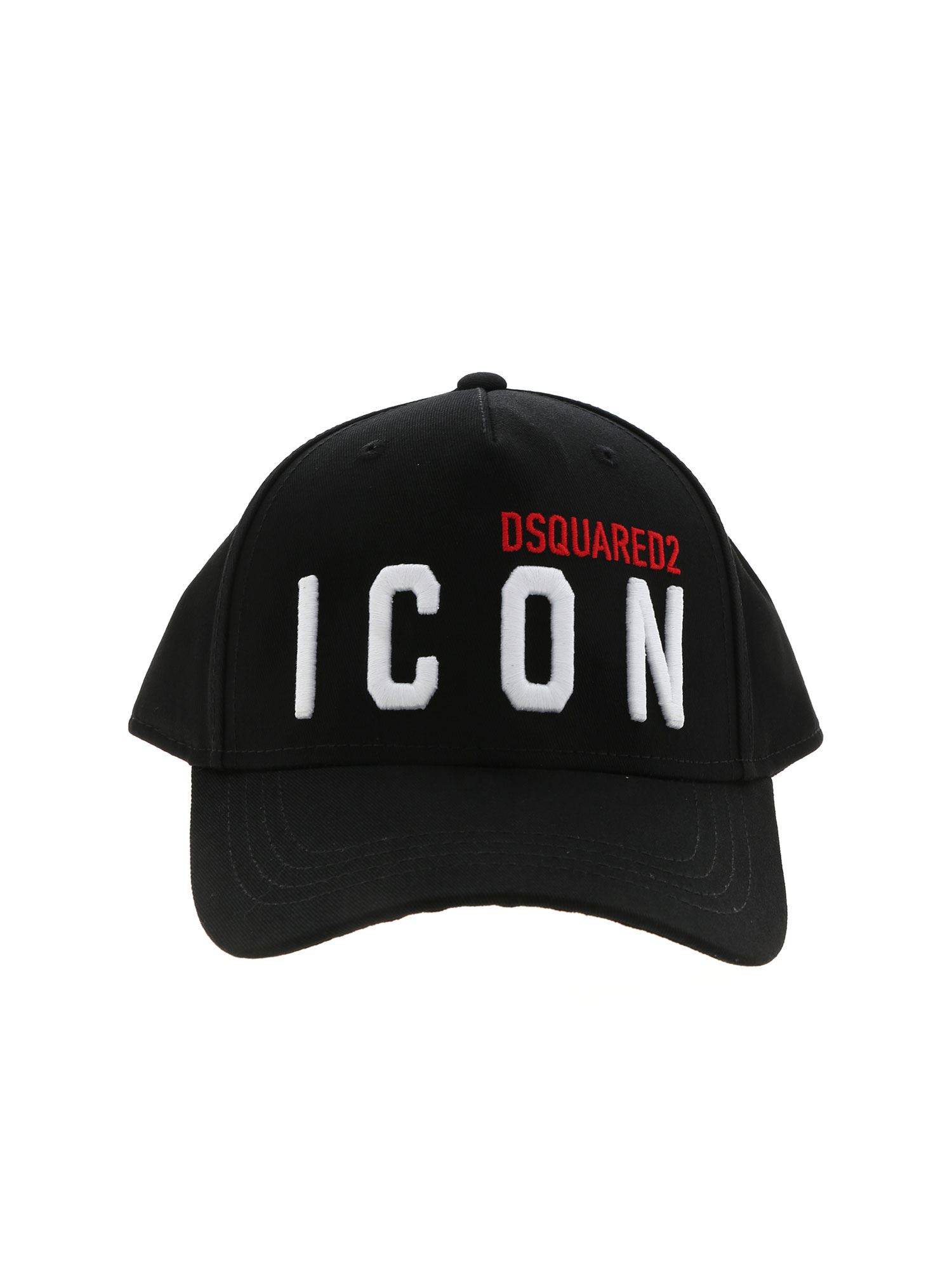 Dsquared2 EMBROIDERED ICON CAP IN BLACK
