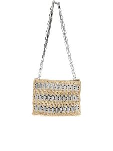 Paco Rabanne - Mini Iconic 1969 clutch bag in silver color