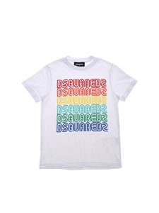 Dsquared2 - White T-shirt with multicolor logo