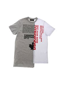 Dsquared2 - Logo printed t-shirt in white and grey