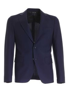 Brian Dales - Wool blend single-breasted suit in blue