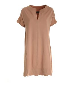 Paolo Fiorillo - Short sleeves dress in brown