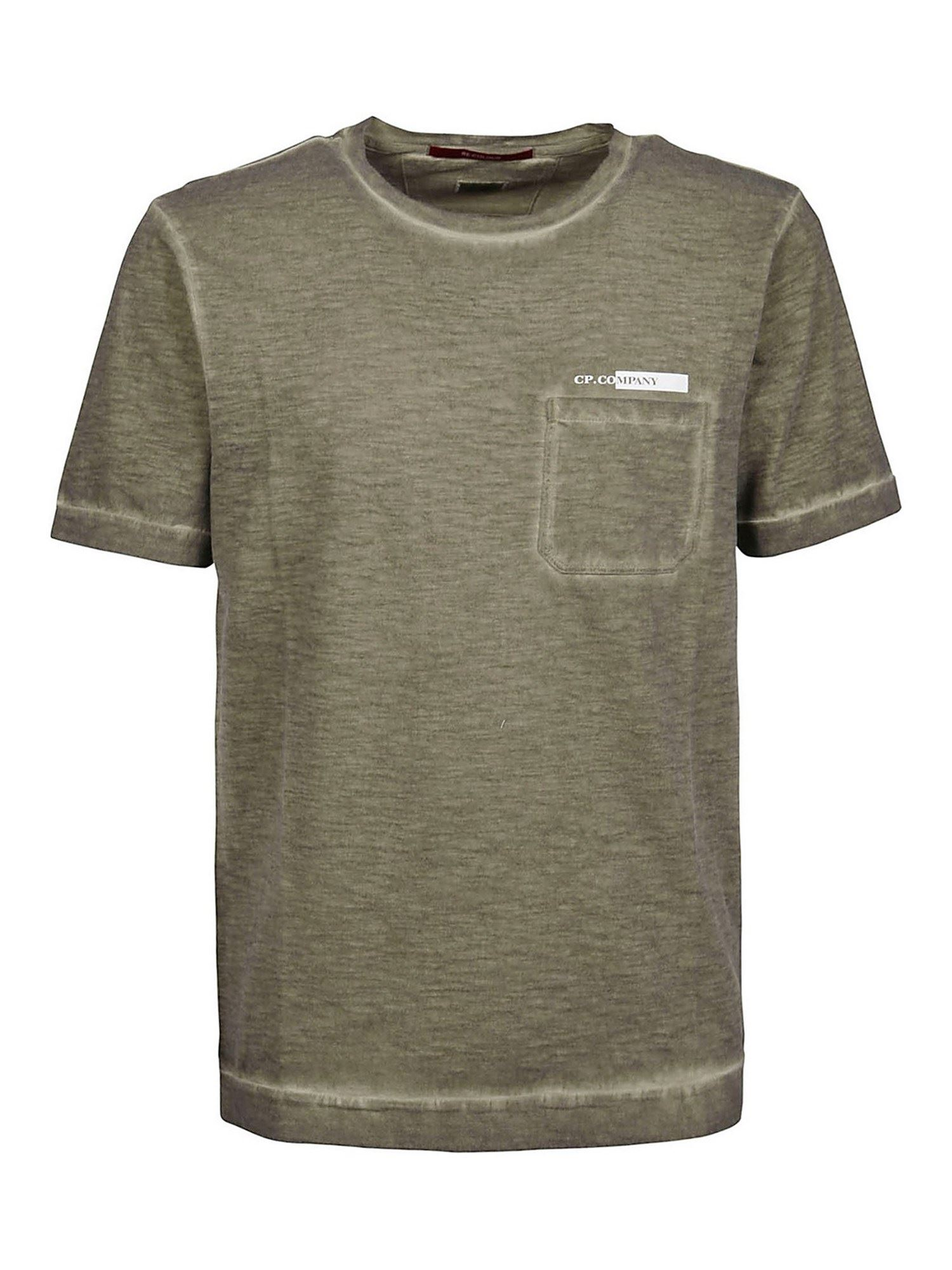 C.p. Company MÉLANGE JERSEY T-SHIRT IN ARMY GREEN