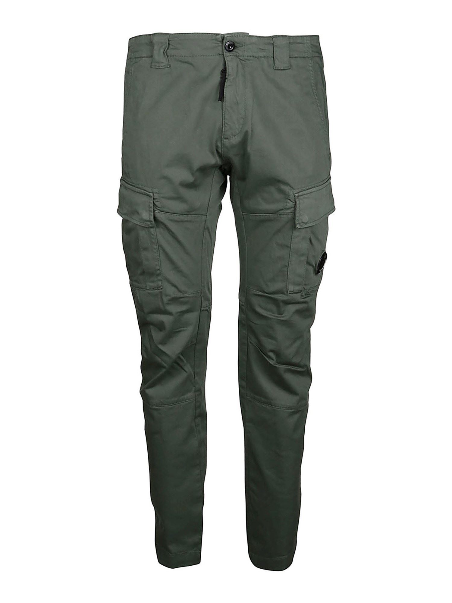 C.p. Company Cottons STRETCH COTTON CARGO PANTS IN ARMY GREEN