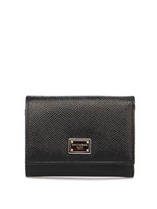 Dolce & Gabbana - Dauphine leather wallet in black