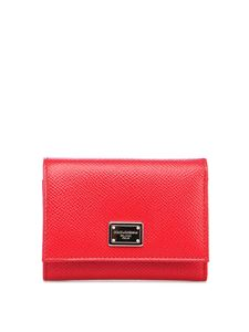 Dolce & Gabbana - Dauphine leather wallet in red